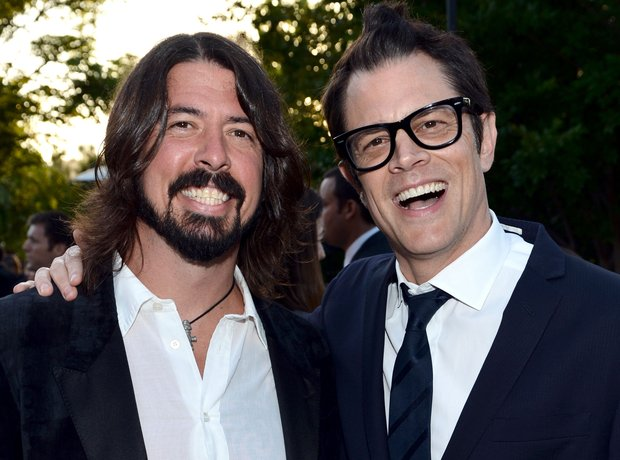 Johnny Knoxville and Dave Grohl