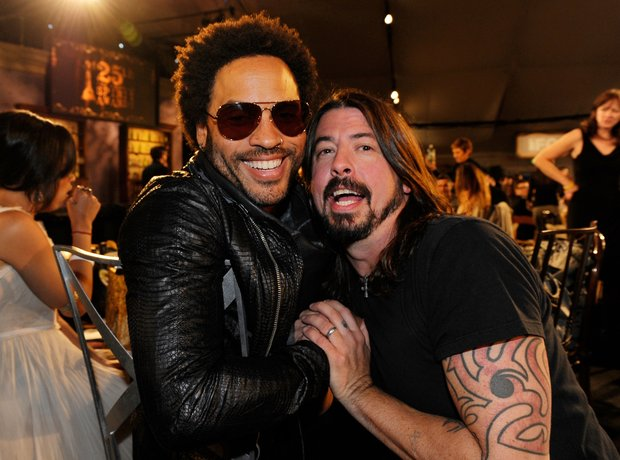 lenny kravitz and dave grohl my hero the famous friends of dave grohl radio x. Black Bedroom Furniture Sets. Home Design Ideas