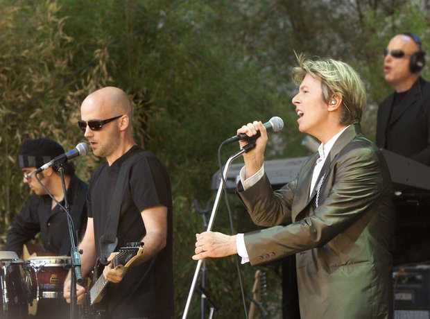 Moby and David Bowie