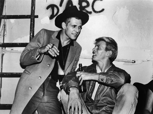 Paul Simonon of The Clash and David Bowie