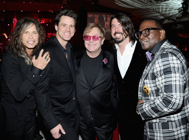 Steven Tyler, Jim Carrey, Sir Elton John,Dave Groh