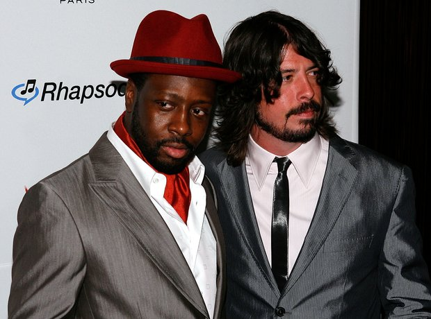 Wyclef Jean and Dave Grohl