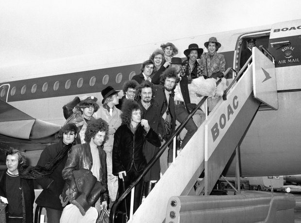 Rock Stars On Planes Jimi Hendrix Experience, Eric
