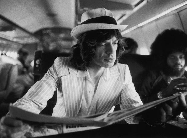 rock Stars On Planes Mick Jagger