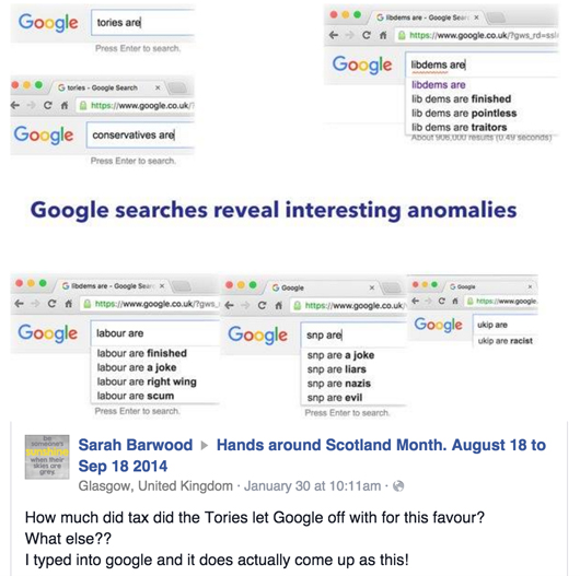 Google Political parties screengrab 1