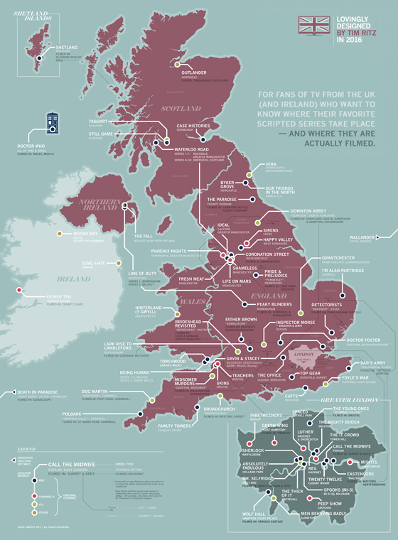 British TV map