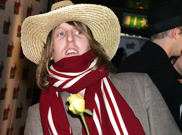 Andy Burrows of Razorlight at the NME Awards 2005