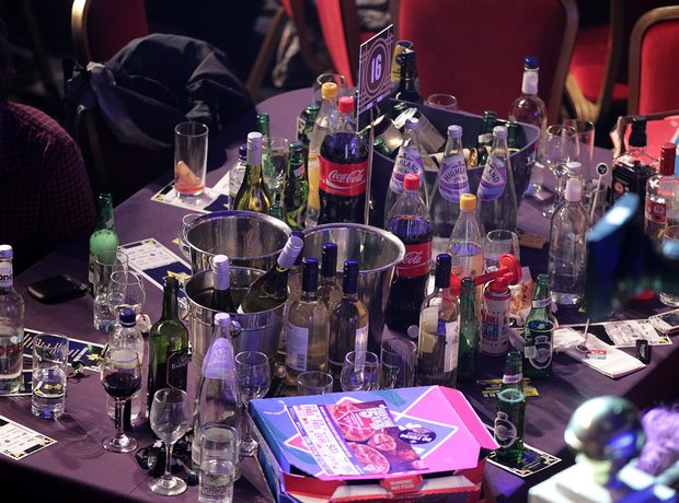 Booze at the NME Awards 2013