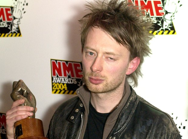 Thom Yorke of Radiohead at the NME Awards 2004
