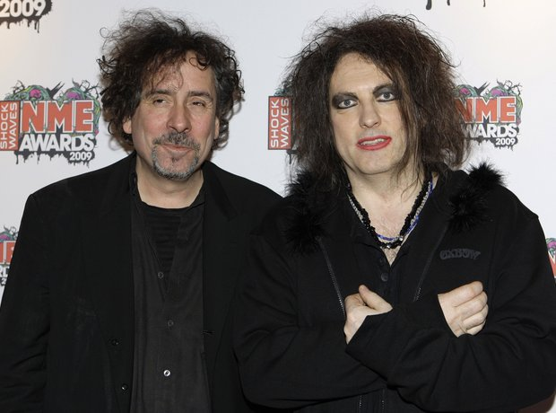 Tim Burton and Robert Smith at the NME Awards 2009