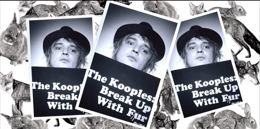 Pete Doherty image against Kooples using fur