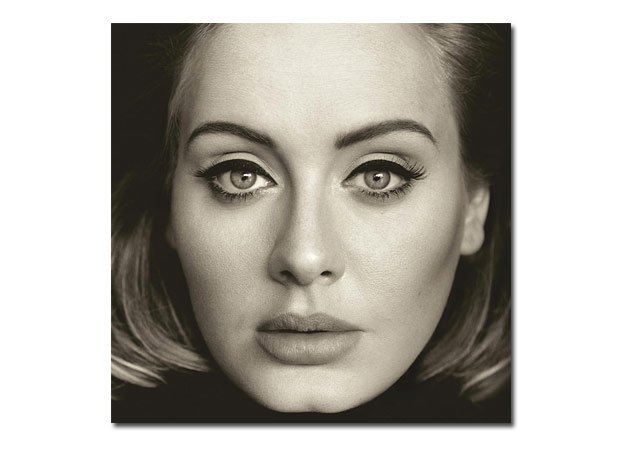 Adele 25 album on background
