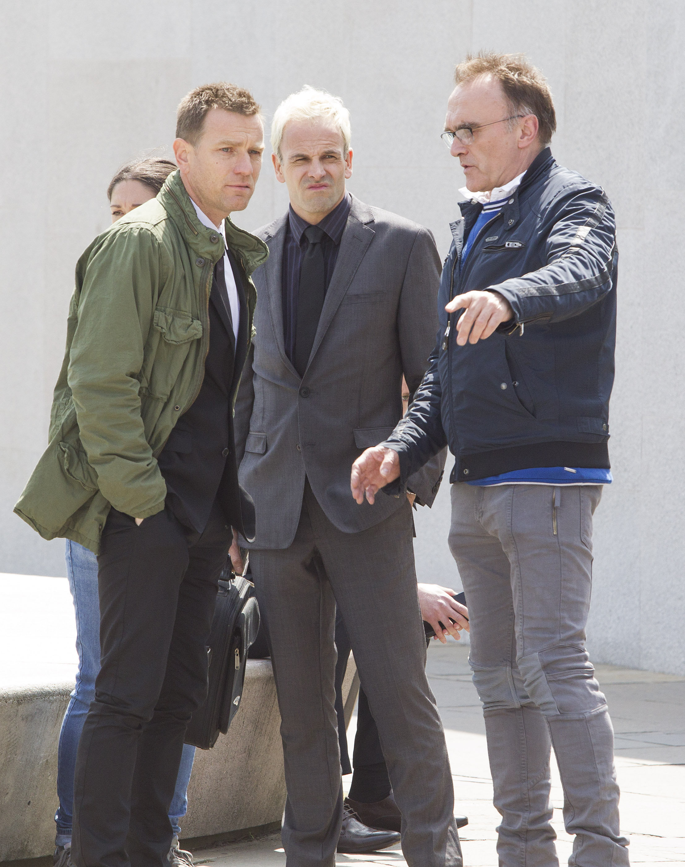 Jonny Lee Miller, Ewan McGregor and director Danny