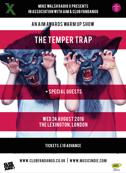The Temper Trap Event Poster AIM Independent Music