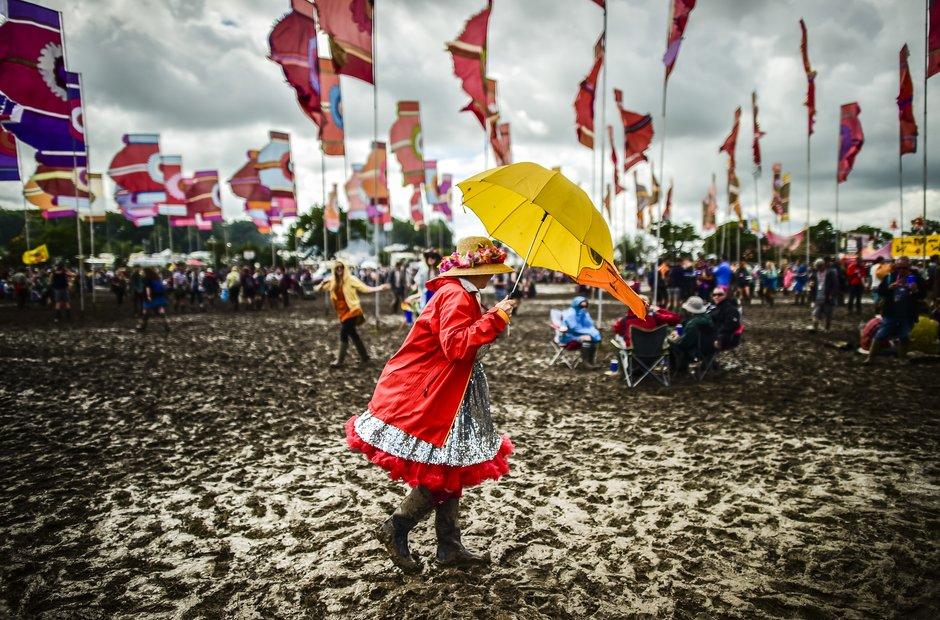 Glastonbury 2016 - Saturday mud