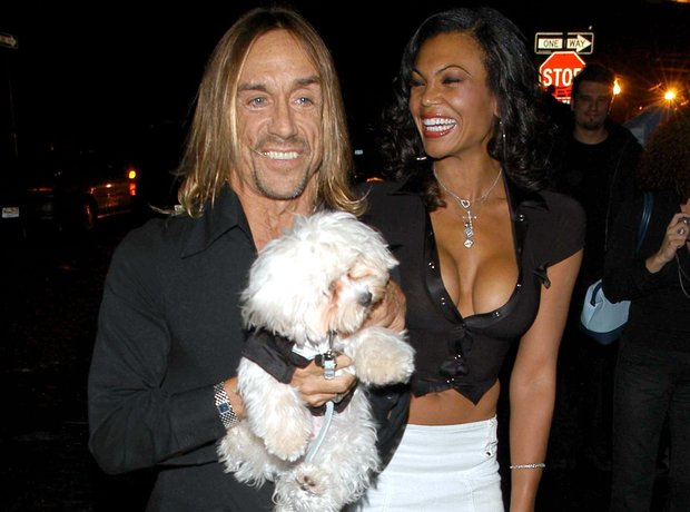 Iggy Pop with his dog Lucky