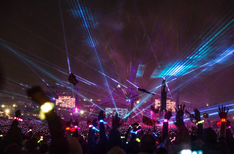 Coldplay at Glastonbury 2016