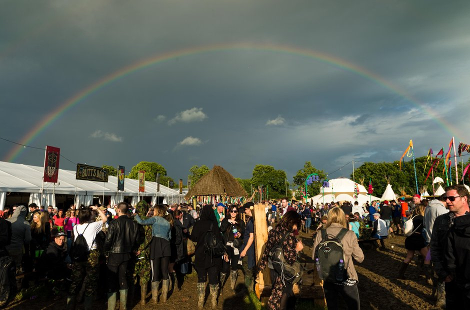 Glastonbury 2016 Saturday - Rainbow