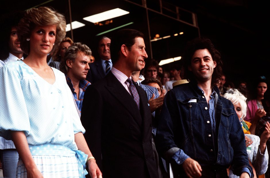 Lady Diana and Prince Charles at Live Aid