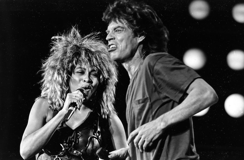 Mick Jagger and Tina Turner at Live Aid, 1985