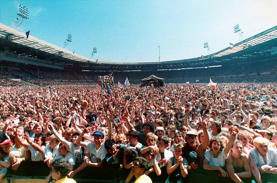 Live Aid Wembley Stadium Audience