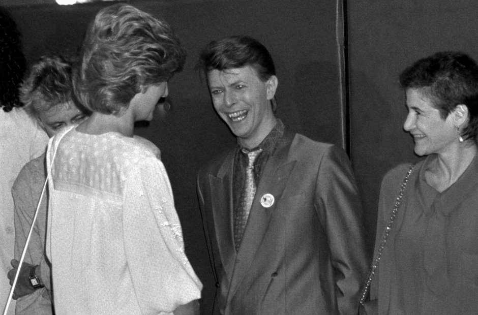 Princess Diana and David Bowie