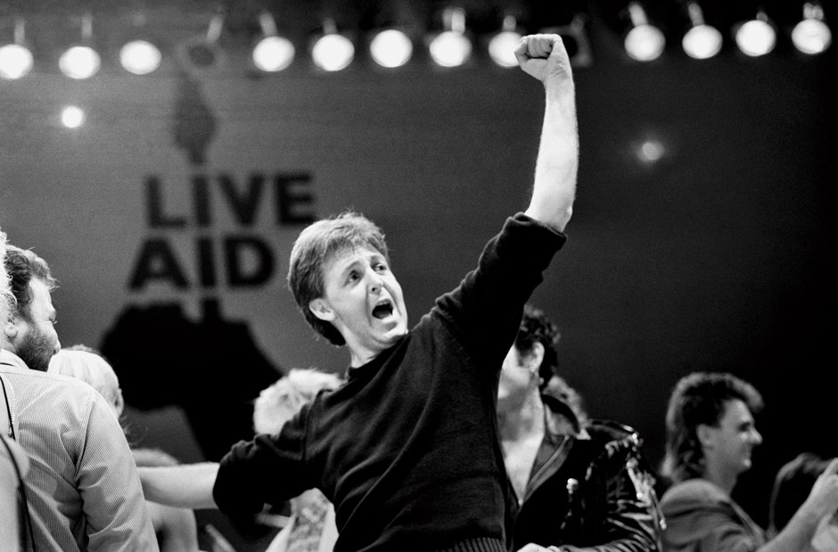 Paul McCartney at Live Aid, 1985