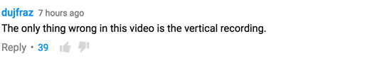 YouTube ceiling collapse comment 2