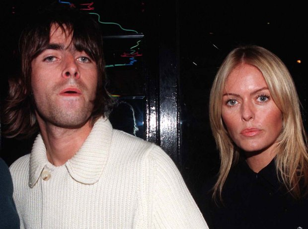 Liam Gallagher and Patsy Kensit in October 1996 at