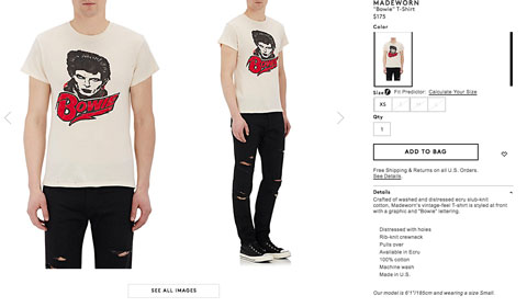 Bowie T-Shirt Barneys screen grab