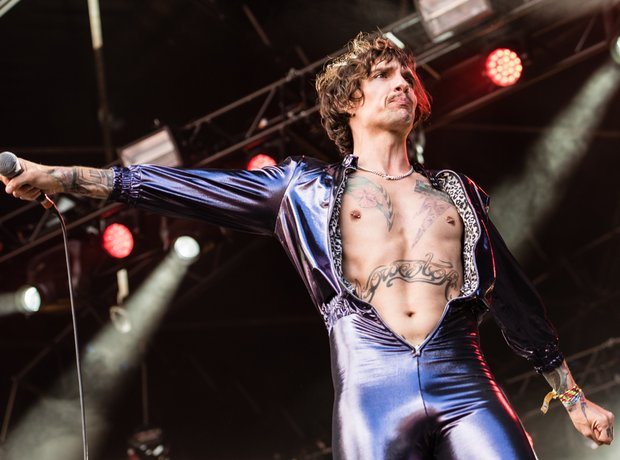 The Darkness' Justin Hawkins at Kendal Calling 201