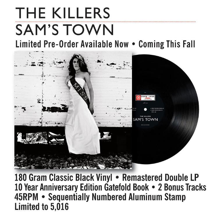 The Killers Sam's Town Vinyl Re-issue Artwork