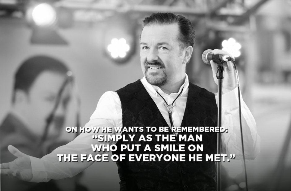 David Brent On How He Wants To Be Remembered