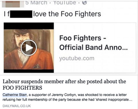 Catherine Starr Foo Fighters Post Facebook Daily M