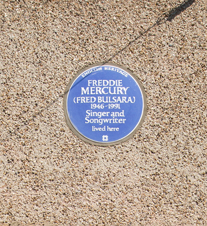 Freddie Mercury English Heritage Blue Plaque