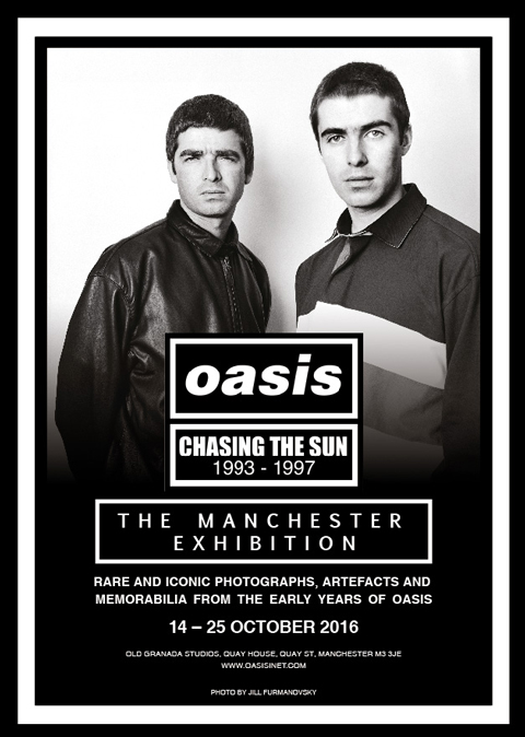 Oasis Chasing The Sun Exhibition Flyer