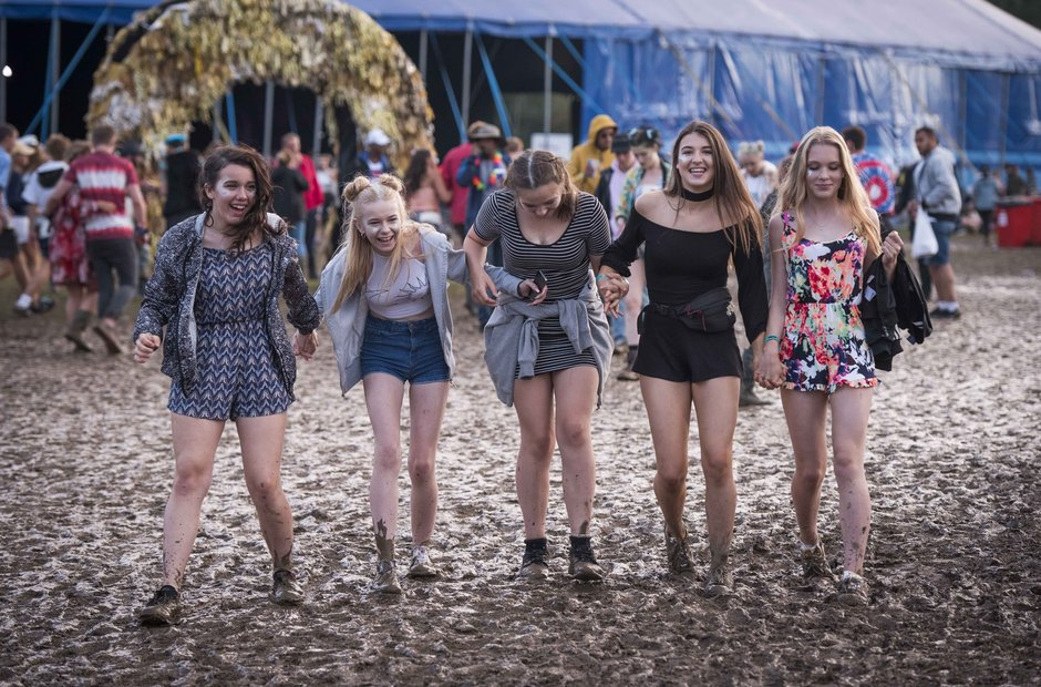 It's a bit muddy at Bestival on Saturday