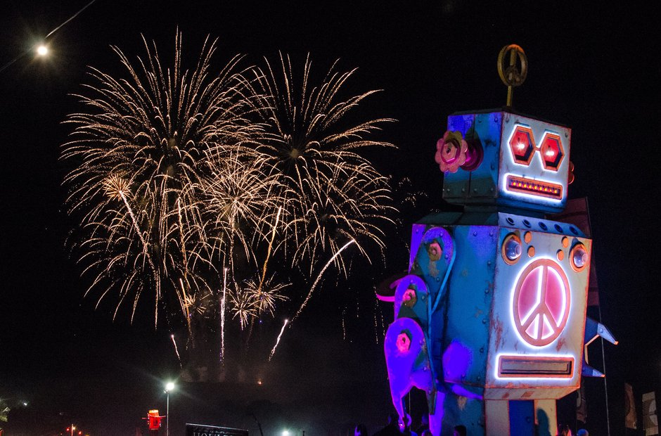Bestival 2016 fireworks