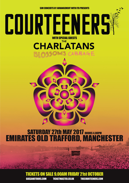 Courteeners Gig Announcement poster 450