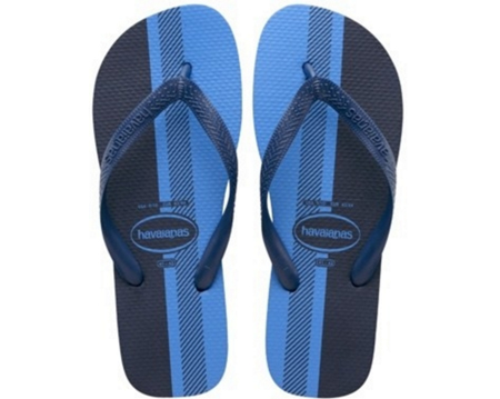 Blue and Black Havaianas The Dress trend