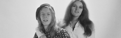 David Bowie with Dana Gillespie May 1971