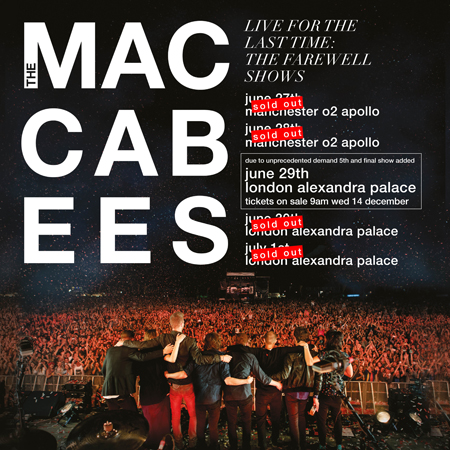 The Maccabees farewell tour image