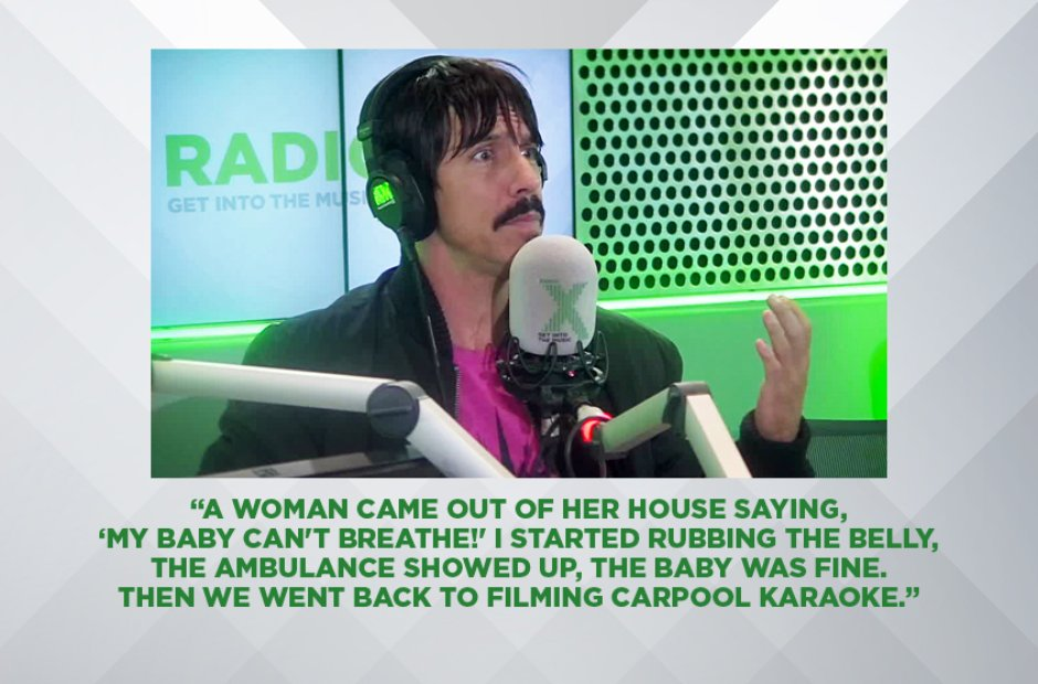 ANTHONY KIEDIS ON SAVING A BABY'S LIFE, JUNE 2016