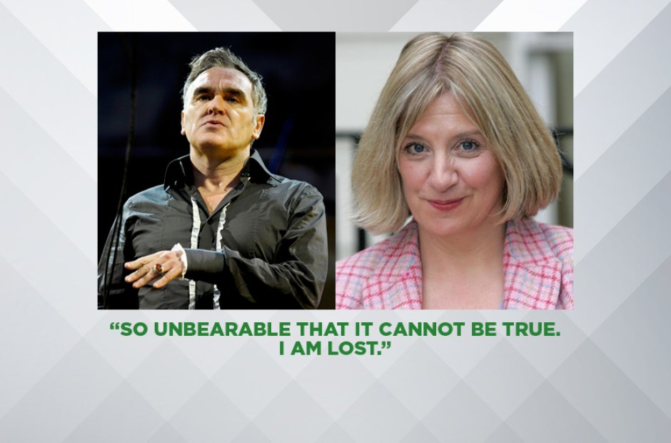 MORRISSEY ON VICTORIA WOOD, APRIL 2016