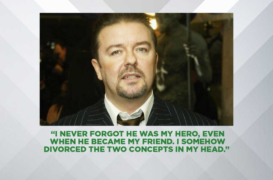 RICKY GERVAIS ON DAVID BOWIE'S DEATH, JANUARY 2016
