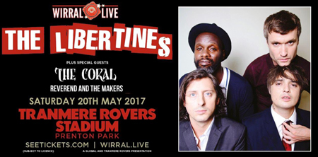 The Libertines Announcement Wirral Live 450