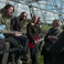 Image 3: Foo Fighters and the Eavis' at Glastonbury Pyramid