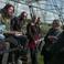 Image 3: Foo Fighters and the Eavis' at Glastonbury Pyramid