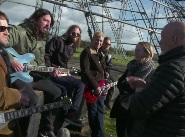Foo Fighters and the Eavis' at Glastonbury Pyramid