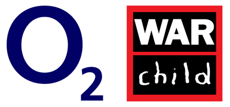 O2 War Child logo